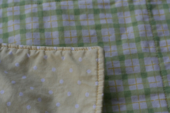 Non-Scalloped Blanket, detail