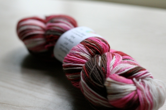 Verve in Cherry Blossom, from The Unique Sheep, 400 yds superwash merino