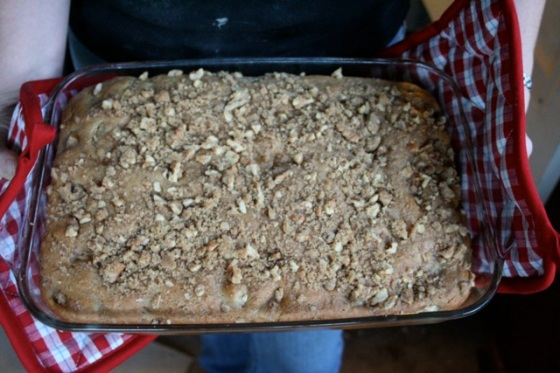 Vegan Pear Cake with Streusel Topping