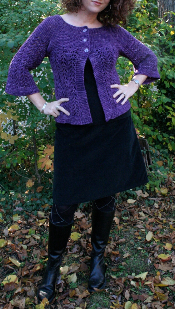 feeling kicky in a homemade A-line skirt and Italian boots