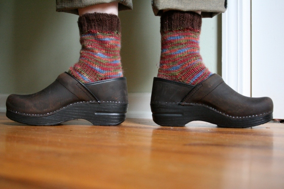 old socks, new clogs