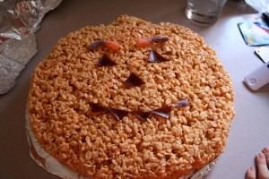 Rice Krispy Jack O'Lantern