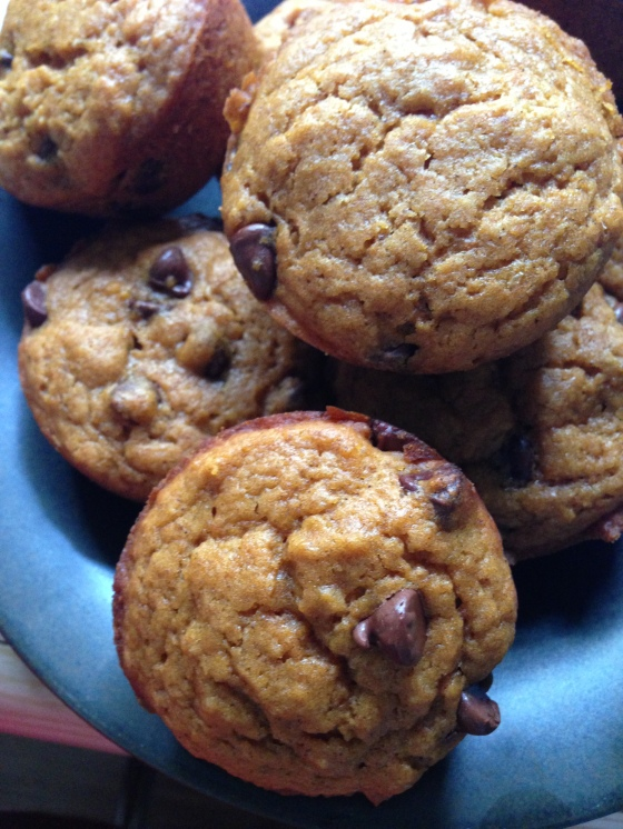 Vegan Chocolate Chip Pumpkin Muffins