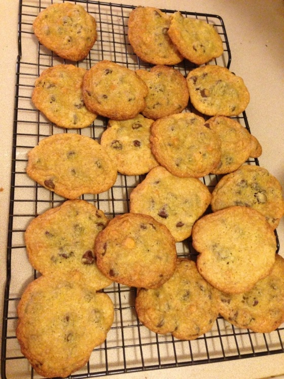 chocolate chip, butterscotch chip cookies