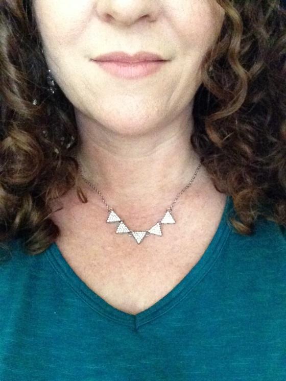 Mini Pave Triangle Necklace