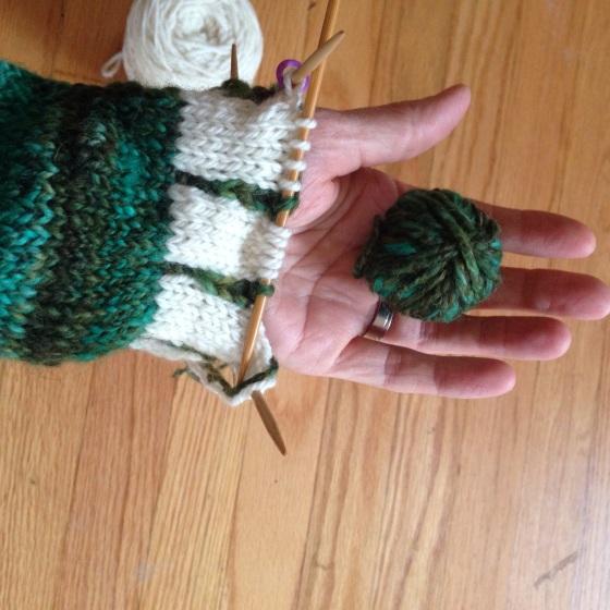 handspun colorwork mitten