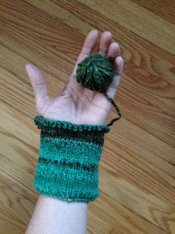 handspun mitten cuff