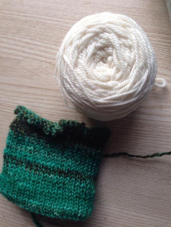 handspun colorwork mittens