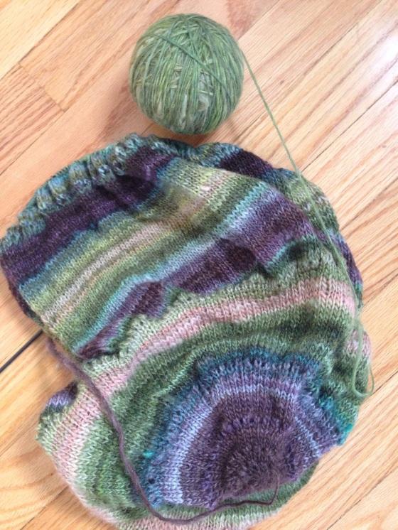 handspun pi shawl