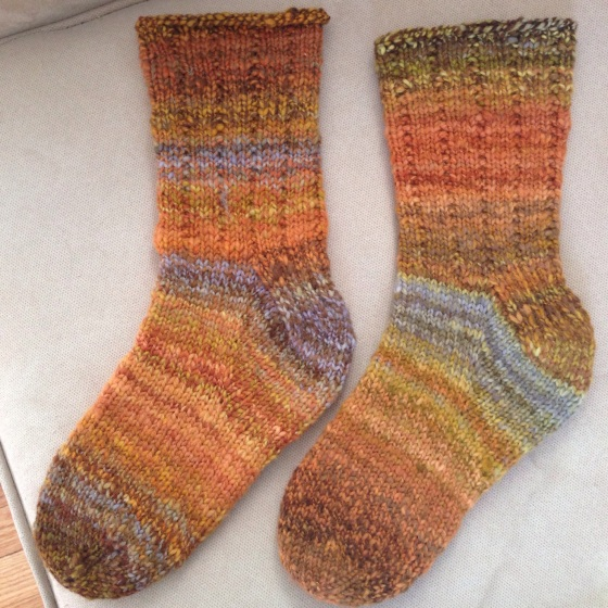 Handspun Bracken and Gorse Socks